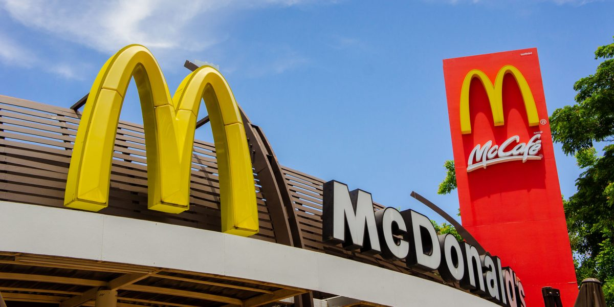 exterior view of McDonalds restaurant