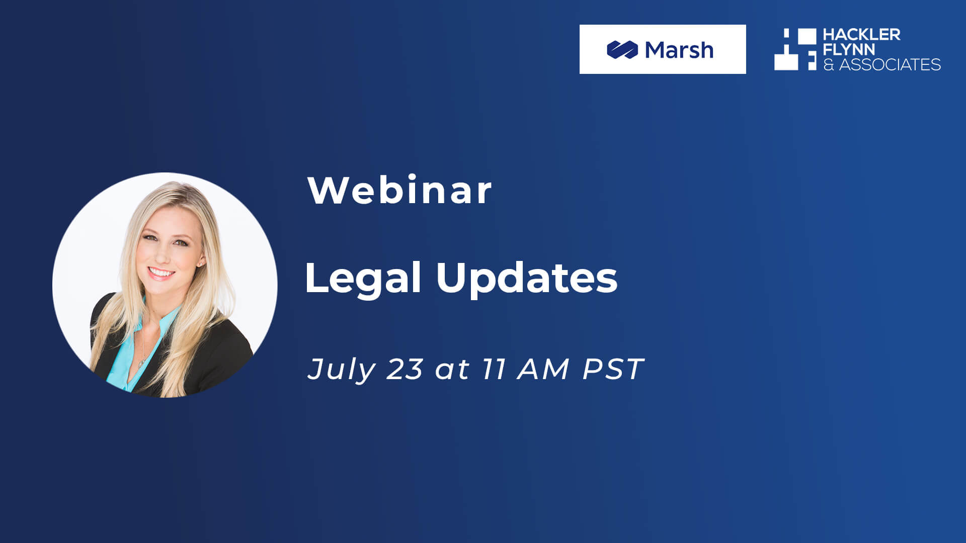 Webinar Graphic for Legal Updates with Marsh Insurance