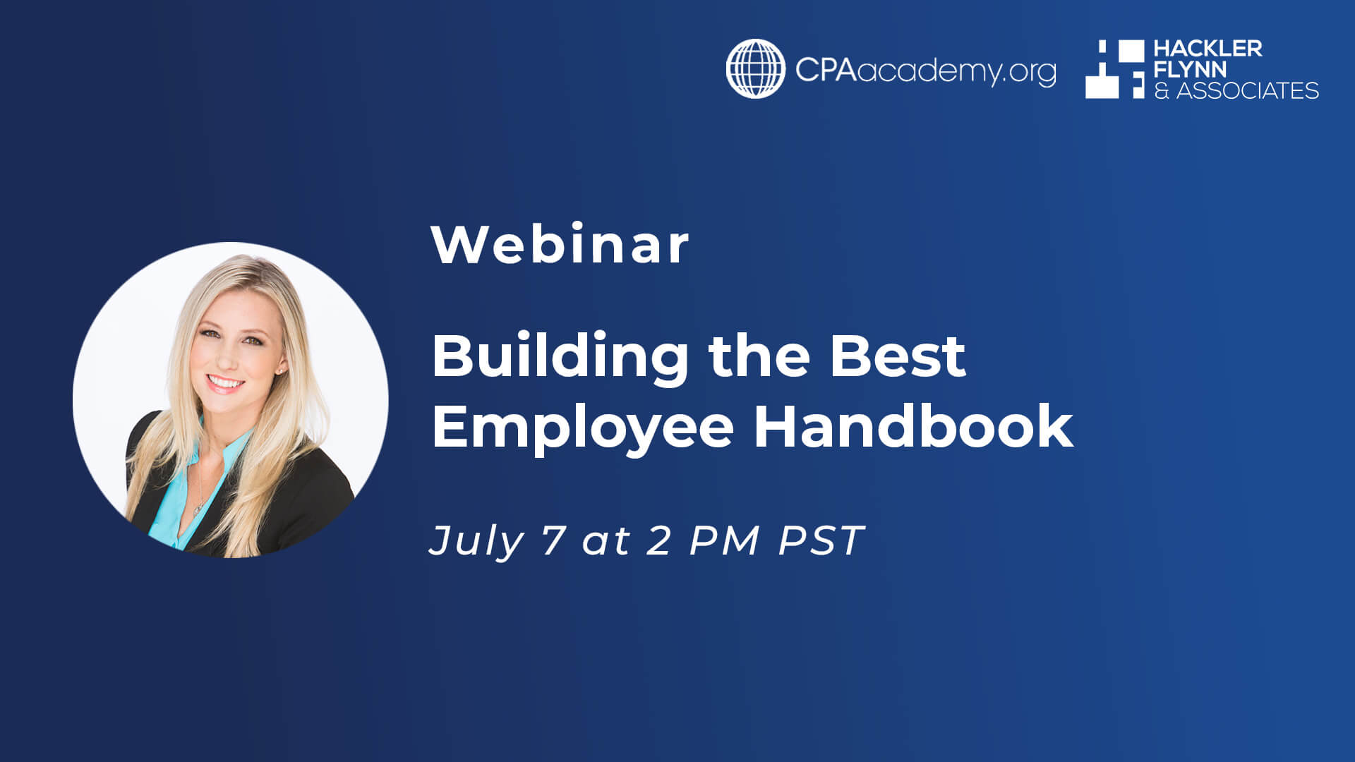 Webinar Graphic for Building the Best Employee Handbook