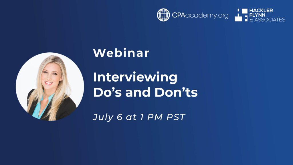 Webinar Graphic for Interview Dos and Donts