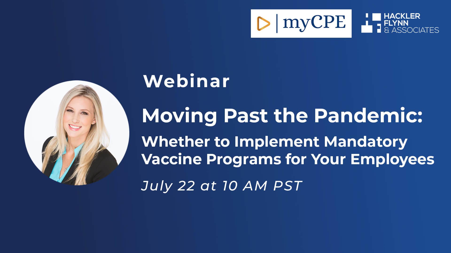 Webinar Graphic for Mandatory Vaccine Programs