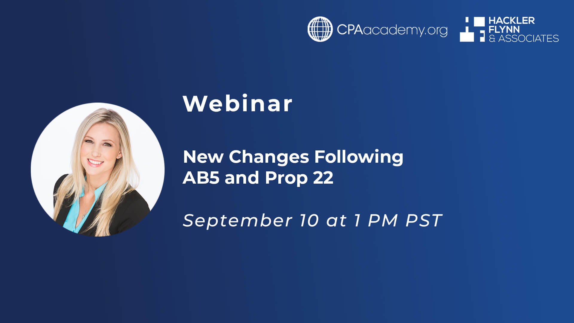 CPA Academy Webinar Graphic - AB5 and Prop22