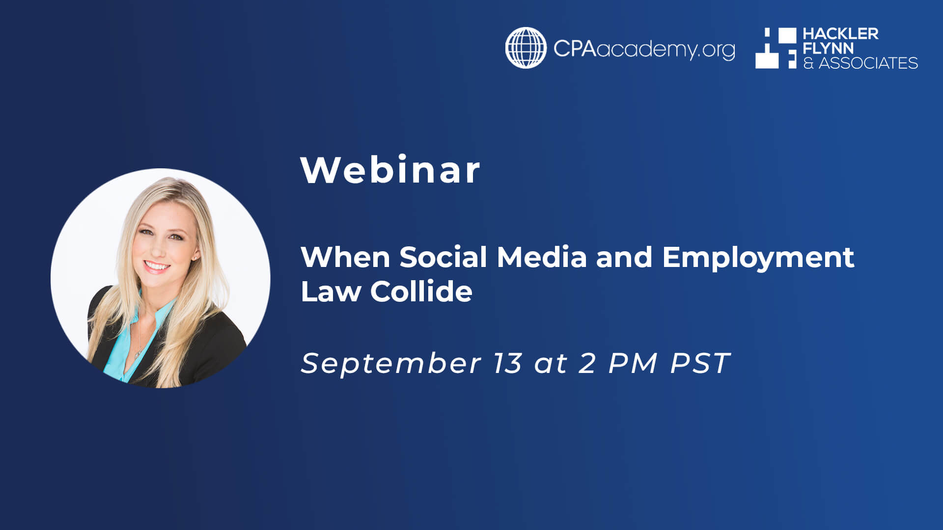 CPA Academy Webinar Graphic - Social Media and Employment