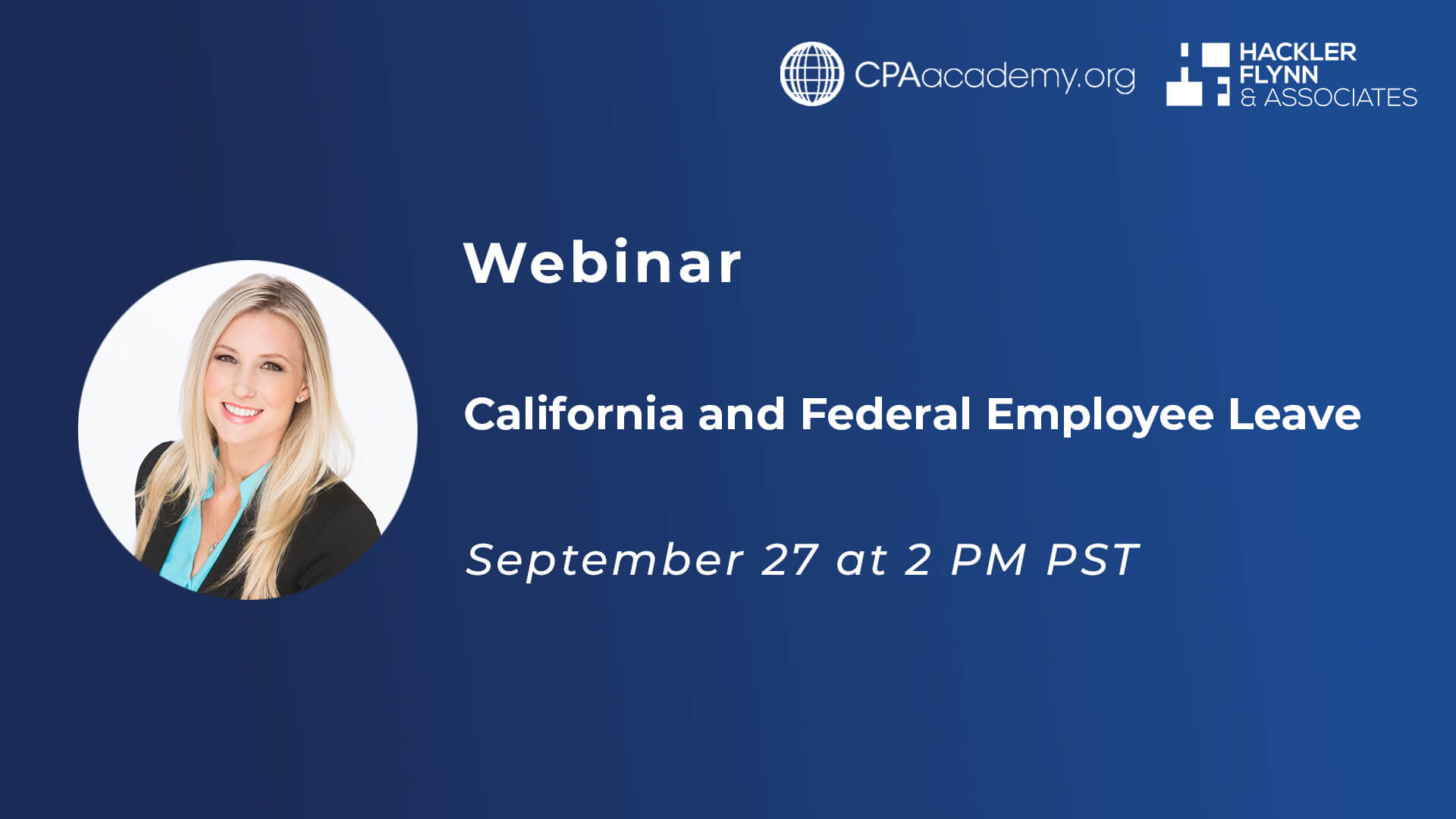 CPA Webinar Graphic for CA Federal Employee Leave