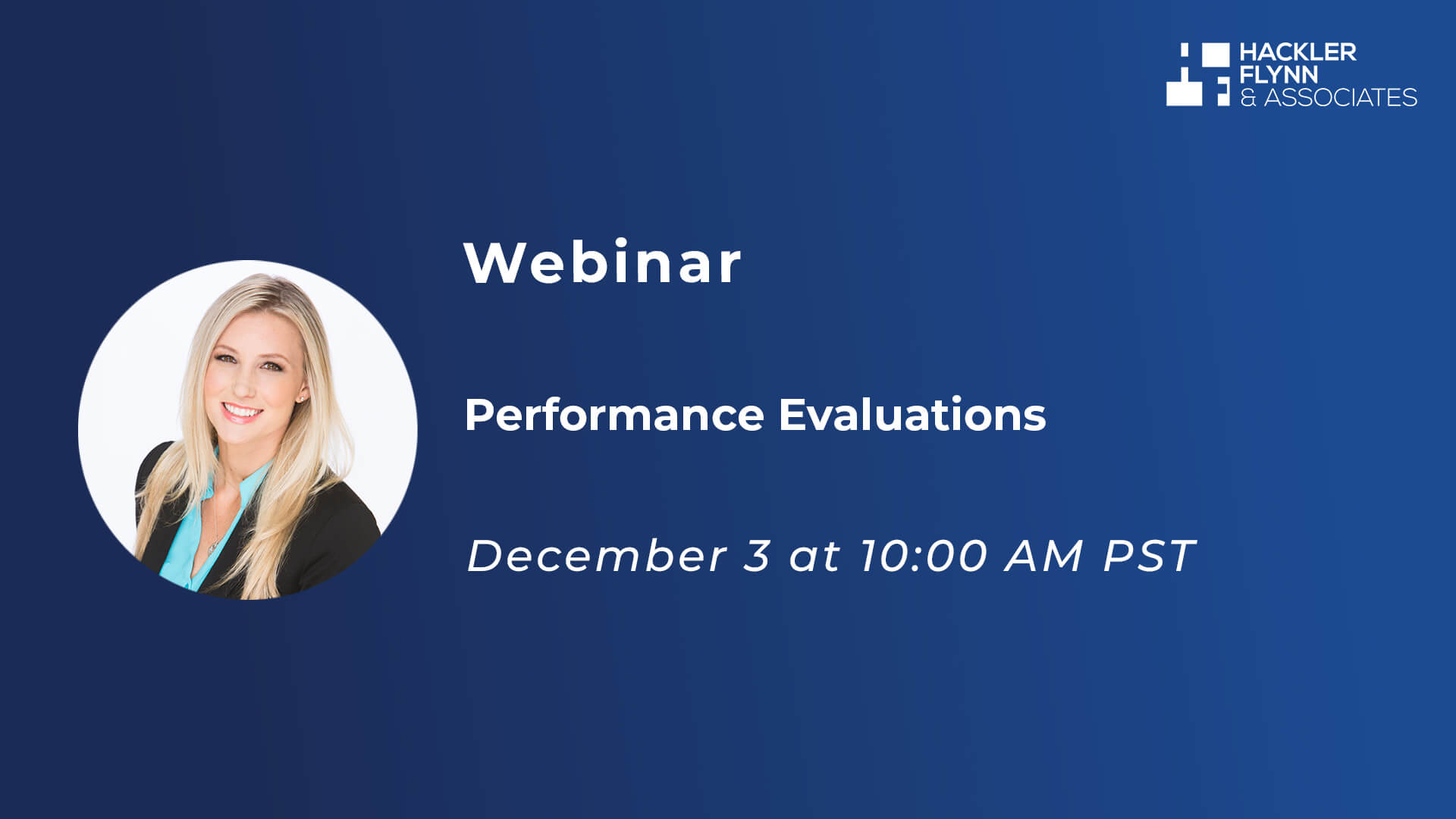 Performance Evaluations Webinar Graphic