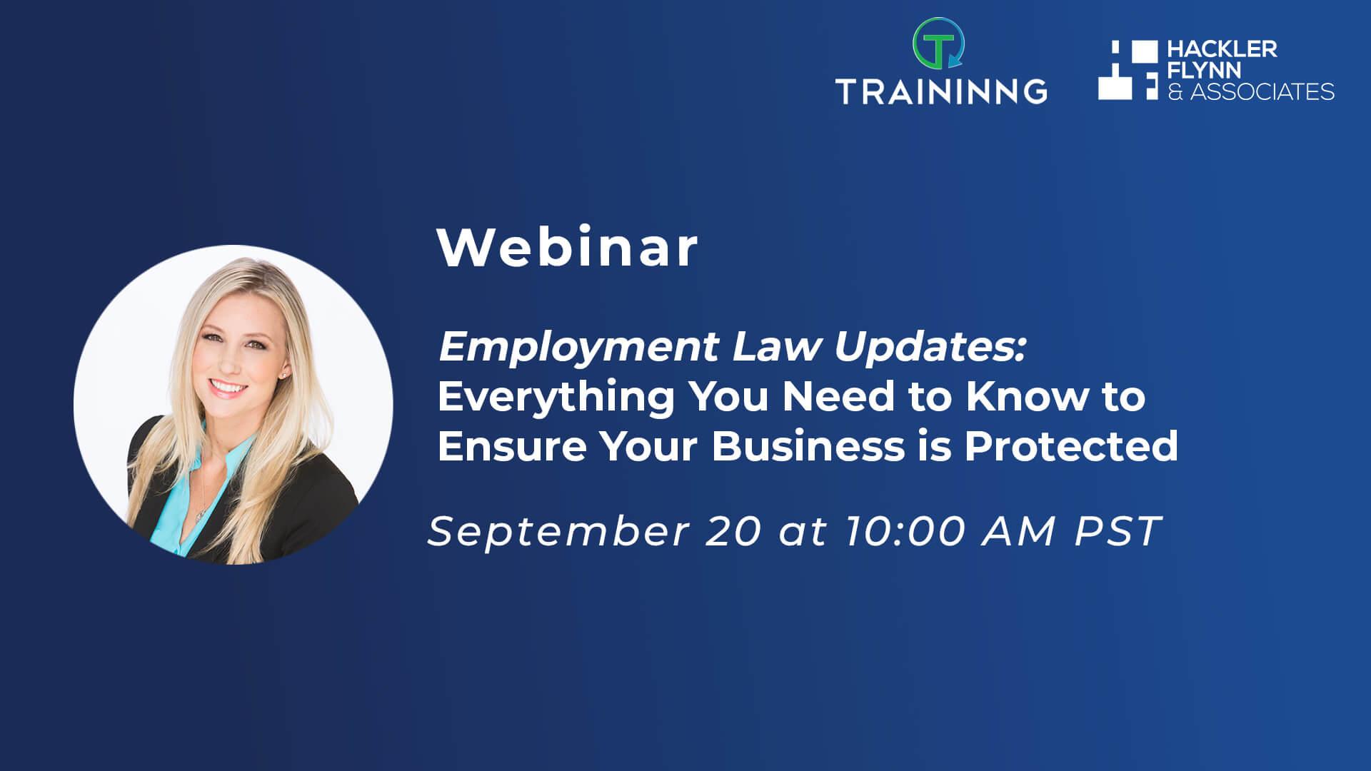 Traininng Webinar Graphic-Employment Law Updates