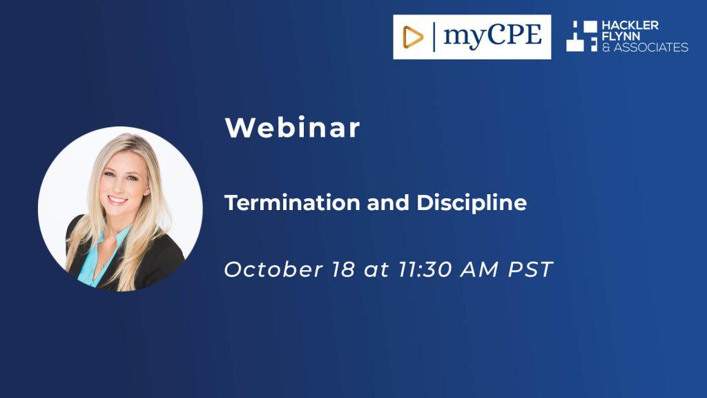 Termination and Discipline Webinar